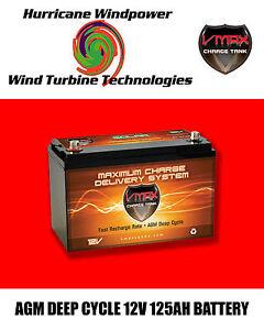 VMAX SLR125 AGM Deep Cycle 12V 125AH Battery for Synthesis Renogy PV SOLAR PANEL
