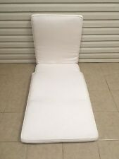 Frontgate Melbourne Outdoor Single Patio Chaise Lounge Cushion 76x29 White NEW