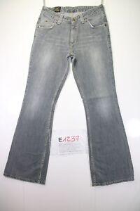 Lee Bootcut (Cod. E1237) jeans USATO Tg.45 W31 L34 Vintage Streetwear Grigio