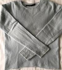 Ladies 100% Pure Cashmere Jumper Pale Blue Size 8-10 Small 360 Photos
