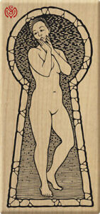 Keyhole Nude Rubber Stamp UNMOUNTED Meer Image Art Woman Rare Retired UM
