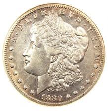 1880/79-CC Morgan Silver Dollar $1 VAM-4 - Certified ANACS AU Details - Rare!