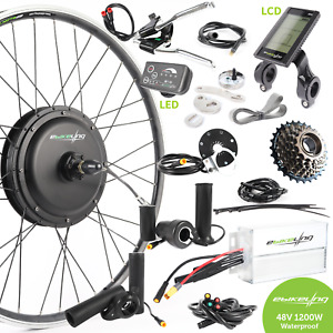 ebikeling Waterproof 48V 1200W 700C Direct Drive Front Rear eBike Conversion Kit