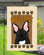 French Bulldog Welcome Dog Garden Banner Flag 11x14 to 12x18 Pet Yard Decor