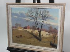 "James Emery Greer ""Late Sunset"" Original Oil Painting Art"