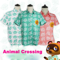 Animal Crossing Horizons Isabelle Unisex Cartoon Leaf Short Sleeves Shirts Top