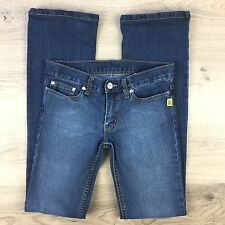 Bettina Liano Boot Cut Stretch Blue Denim Women's Jeans Size 27 Actual W28 (AA4)