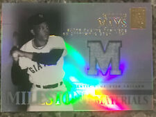 New listing Willie Mays Game Worn Topps Tribute Baseball Card