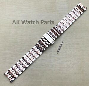 19mm TWO-TONE Strap Fits Tissot Carson T085407A T085410A Bracelet/Band Watch Spa