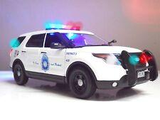 DENVER, Colorado POLICE FORD PI SUV Explorer LIGHTS SIREN 1/18 Scale Diecast TOY