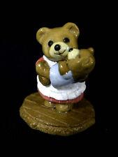VTG DONNA PETERSON MAMA BEAR TINY TEDDY T-12 MINT FIGURINE WEE FORREST FOLK