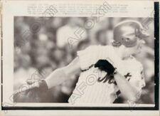1973 New York Mets Rusty Staub Hits Single During World Series Game Press Photo