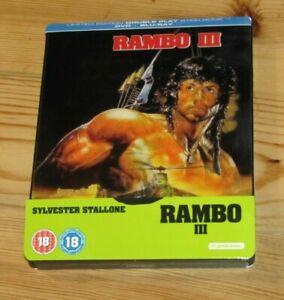 RAMBO III Steelbook Lenticular Blu-ray (inclus VF)