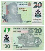 Nigeria 20 Naira 2007 Polymer P-34c 6 Digit Banknotes UNC