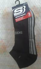 SKECHERS 9 Pairs (3 x 3 Packs) Trainer Socks Black 7-11 Euro 41-45 NEW UK