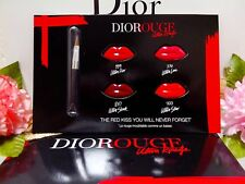 Dior Rouge Dior Ultra Rouge Lip ◆☾4 Colors Card With Brush☽◆*NEW*☾H/*~12% OUT~*☽