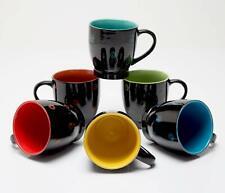 Bench Mark Designer Multicolor Microwave Safe Ceramic Coffee/Milk Mugs, 190 ML