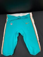 #67 MIAMI DOLPHINS NIKE GAME USED AQUA CURRENT STYLE PANTS 2019/2020 SEASON