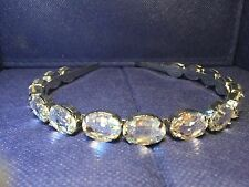 DAZZLING FACETED OVAL CRYSTAL TIARA HEADBAND WEDDING JEWELRY WITH MEGA SPARKLE