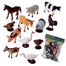 US Toy Company 2386 Farm Animals, 12 piece