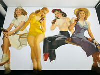 Vintage Large Coca Cola Pin Up girls advertising soda coke posters YOU PICK