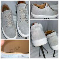 C.QP Sneakers Shoes Sz 11.5 Men (45) Gray Suede Lace Portugal Mint YGI H0S-117