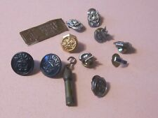 Lot Us Navy Sterling Pins, Buttons, Label, other misc pins