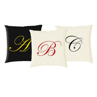 Initial Cushion Covers (Printed) - Choose any letter! (Script Style - C648)