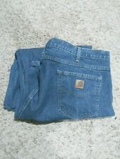 Mens Carhartt Denim Relaxed Fit Blue Jeans size 48 x 30
