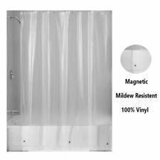 Magnetic Mildew Resistant Shower Curtain Liner 100% Vinyl Clear 70x72