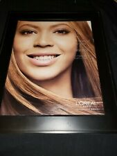 Beyonce Woman Of The Year Loreal Rare Original Promo Poster Ad Framed!