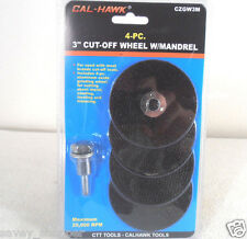"4 PC. 3""  INCH CUT OFF WHEELS WITH MANDREL"
