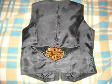 Womens Harley Davidson Zippered Leather Vest by Styleworks M