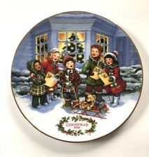 "Avon ""Perfect Harmony"" Christmas 1991 Carolers Collectible Decorative Plate - 8"""