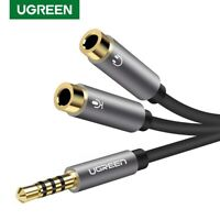 Ugreen Headset Adapter 3.5mm Stereo Audio Mic Y Splitter Cable for Headphone PC