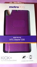 Phone Case for HTC Desire 530 Kick+ [+Screen Protector]  Purple w/ Gray MetroPCS