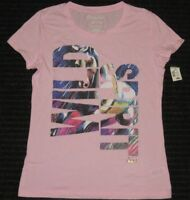 Aeropostale Wild Spirit Cap Sleeve T Shirt Top Women XL/TG XL Pink Graphic Tee
