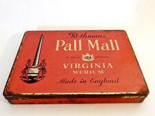 Vintage Retro Rothmans Pall Mall Tobacco Cigarette Tin Virginia Medium London