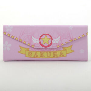 Anime Cardcaptor Sakura Lolita Girls Folding Glasses case Pencil Bag Organizer