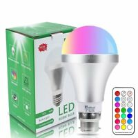 Remote Controlled 10W (75W) LED Colour Changing Bayonet BC/B22 Light Bulb Bulbs
