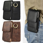 Vertical Leather Carrying Pouch Case Cover Holster With Belt Loop For Cell Phone