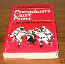 PRESIDENTS CAN'T PUNT Cross SIGNED First 1st Edition Ed