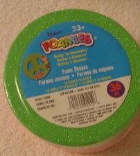 Nib Darlee Foamies Pack Of 36 Peace Signs 18 Plain 18 Glitter Green Pink Orange