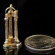 14k gold vintage ROMAN COLUMNS FROM THE FORUM charm