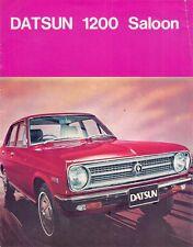 Nissan Datsun 1200 Sunny Saloon 1971-72 UK Market Leaflet Sales Brochure
