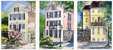 """Three Sisters House"" Charleston 3 water color prints Morris Birthday gift"