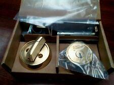 NEW Medeco M3 Single Cylinder Deadbolt Lock, 3 Keys with Card, Bright Brass