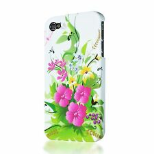 DECORATIVE ORNAMENT FLOWER DESIGN PLASTIC CASE BACK COVER FOR APPLE IPHONE 4 4S