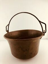 Antique Solid Copper Hand Hammered Pot With Handle