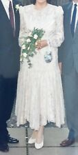 Italian design by Ann Balon Vintage style lace and pearl beaded wedding dress